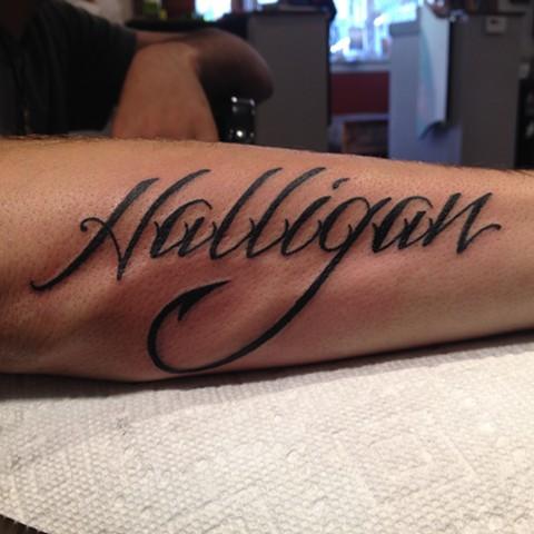 Halligan Tattoo, lettering tattoo, Provincetown tattoo, Cape Cod tattoo, Ptown tattoo, truro tattoo, wellfleet tattoo, custom tattoo, coastline tattoo
