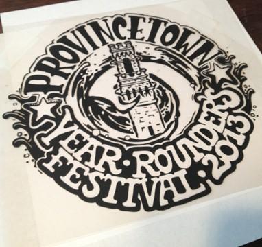 provincetown year rounders festival t-shirt design and screenprint, art, design, Cape Cod, Coastline, Ptown