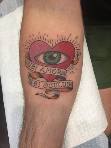 heart tattoo, eye tattoo, love tattoo, Provincetown tattoo, Cape Cod tattoo, Ptown tattoo, truro, wellfleet, custom tattoo, coastline tattoo