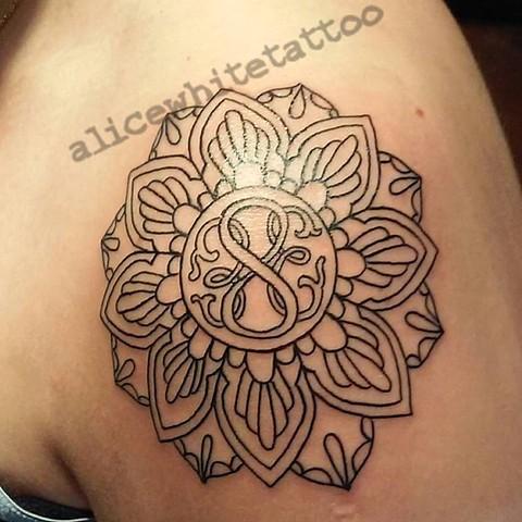 Mandala Tattoo, Provincetown tattoo, Cape Cod tattoo, Ptown tattoo, truro tattoo, wellfleet tattoo, custom tattoo, coastline tattoo