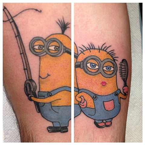 Minion tattoo, Provincetown tattoo, Cape Cod tattoo, Ptown tattoo, truro, wellfleet, custom tattoo, coastline tattoo