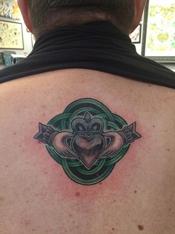 claddagh tattoo, Provincetown tattoo, Cape Cod tattoo, Ptown tattoo, truro, wellfleet, custom tattoo, coastline tattoo