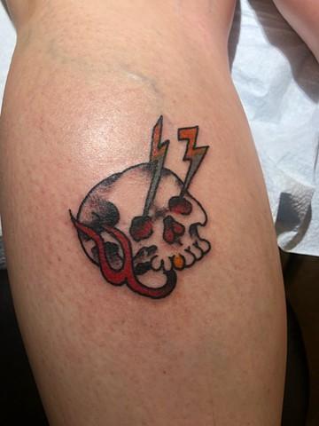 friday the 13th, skull, freehand, Provincetown tattoo, Cape Cod tattoo, Ptown tattoo, truro, wellfleet, custom tattoo, coastline tattoo