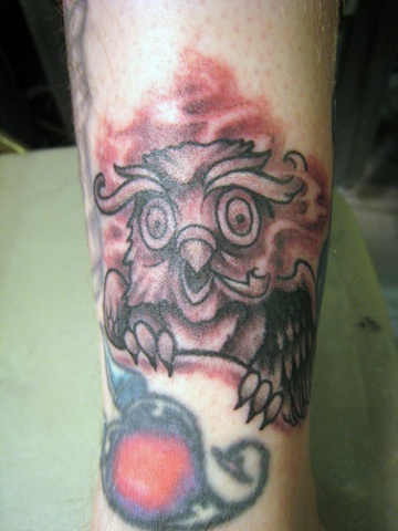 owl, custom tattoo, Provincetown, Cape Cod, Coastline, Ptown