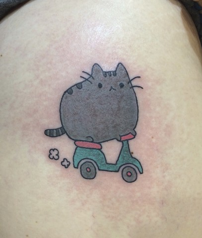 Pusheen tattoo, Provincetown tattoo, Cape Cod tattoo, Ptown tattoo, truro, wellfleet, custom tattoo, coastline tattoo