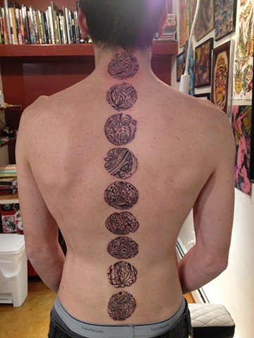 phases of the moon astronomy, Provincetown tattoo, Cape Cod tattoo, Ptown tattoo, truro tattoo, wellfleet tattoo, custom tattoo, coastline tattoo