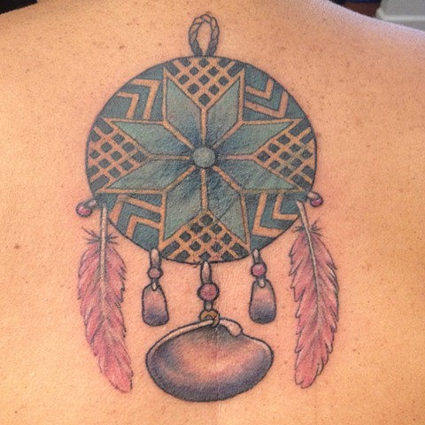 Dream Catcher Tattoo, Provincetown tattoo, Cape Cod tattoo, Ptown tattoo, truro, wellfleet, custom tattoo, coastline tattoo