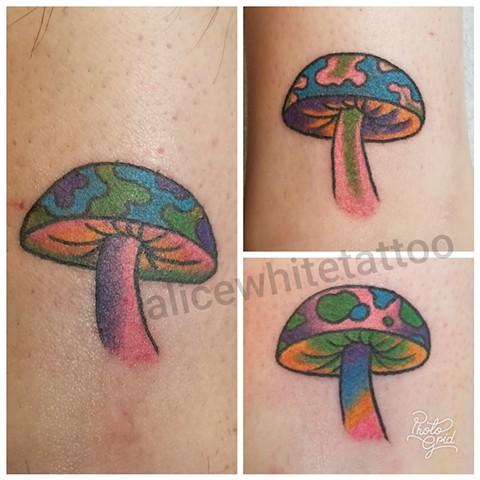 trippy, fun, colorful, bro tats, friends, Provincetown tattoo, Cape Cod tattoo, Ptown tattoo, truro, wellfleet, custom tattoo, coastline tattoo