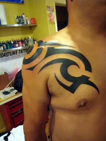 tribal, custom tattoo, Provincetown, Cape Cod, Coastline, Ptown