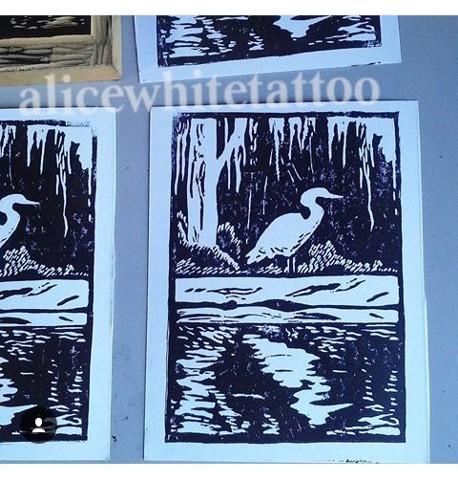 adventure postcards, wood block print, art, printmaking, Provincetown tattoo, Cape Cod tattoo, Ptown tattoo, truro, wellfleet, custom tattoo, coastline tattoo