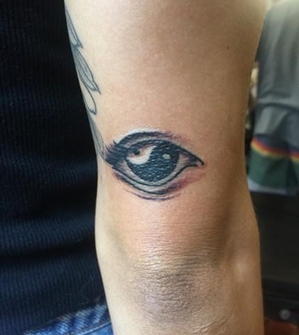 yin yang tattoo, eye tattoo, Provincetown tattoo, Cape Cod tattoo, Ptown tattoo, truro, wellfleet, custom tattoo, coastline tattoo