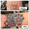 Tina Marie DeCarlo - flower cover-up,