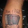 Accordian, custom tattoo, Provincetown, Cape Cod, Coastline, Ptown