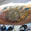 underwater ships wheel, custom tattoo, Provincetown, Cape Cod, Coastline, Ptown