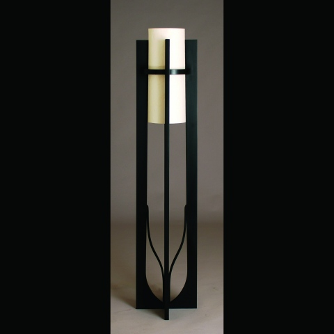 Floor lamp handmade by Kyle Dallman
