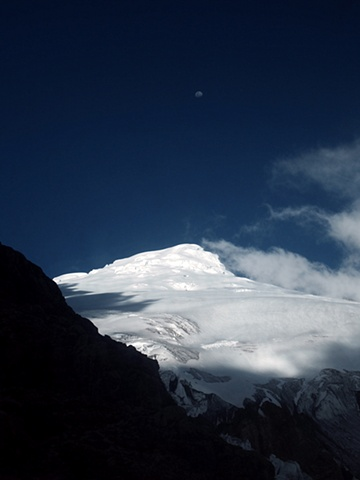 The Moon and Cayambe