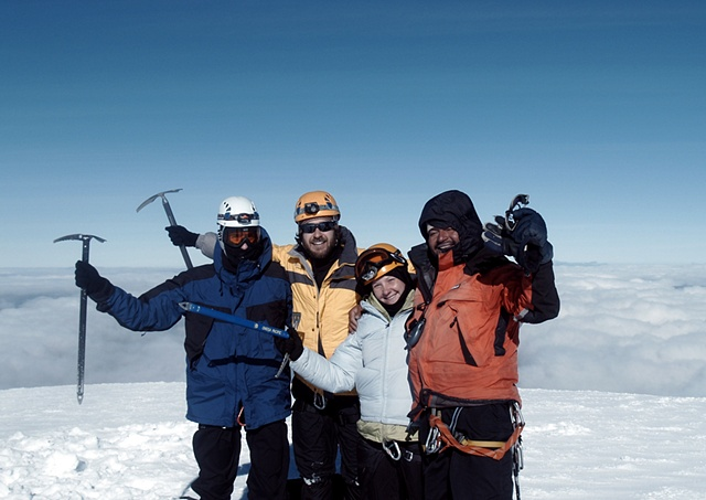 Summit of Cayambe- 18,700 feet