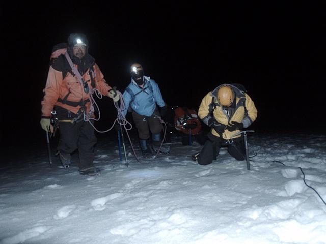 Climbing at Night
