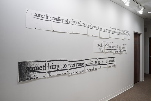 Molly Springfield graphite drawing text marginalia conceptual art