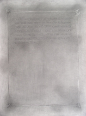graphite drawing text by Molly Springfield