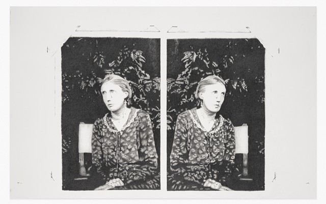 Molly Springfield graphite drawing photocopy Virginia Woolf holograph draft