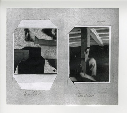 Molly Springfield collage photocopy Virginia Woolf holograph draft
