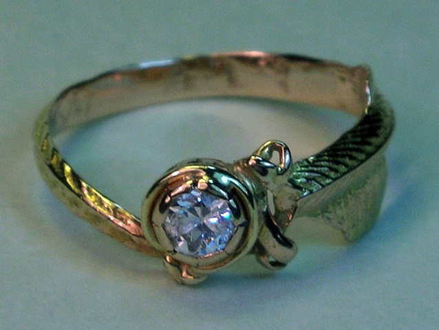 mom's diamond fin ring