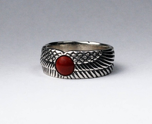 Egyptian Winged Sun Disk Ring
