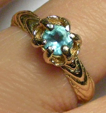 topaz cuttle claw ring