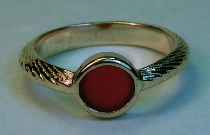 carnelian courage ring