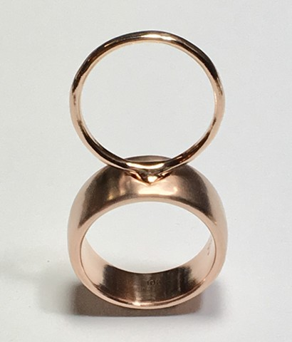 Rose gold Mother Daughter Rings