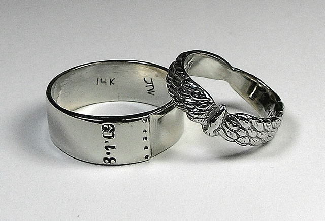Ann & John wedding rings