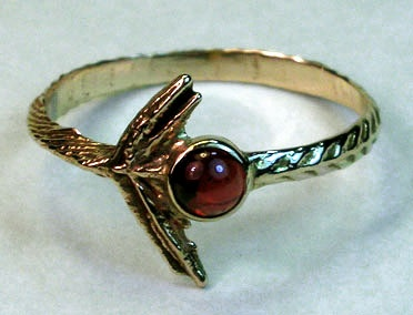 cuttlefish cast garnet wing ring