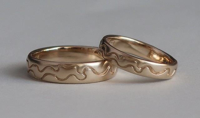 Custom wedding rings #windingrivers #weddingrings