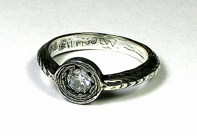 CZ courage ring
