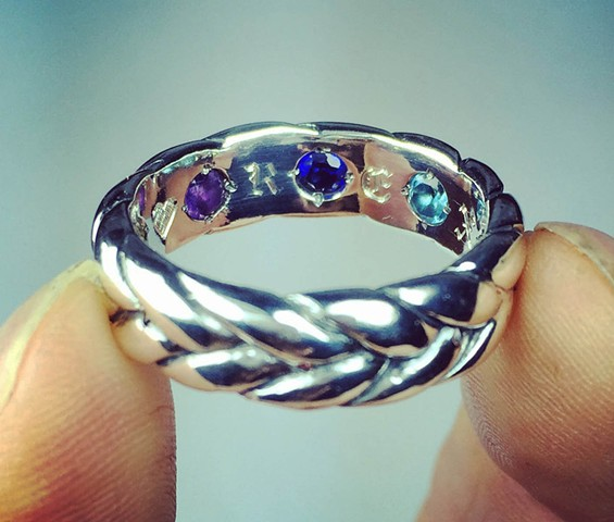 #silver #braidring #hiddenstones