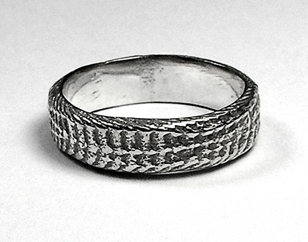 thin silver snakeskin band