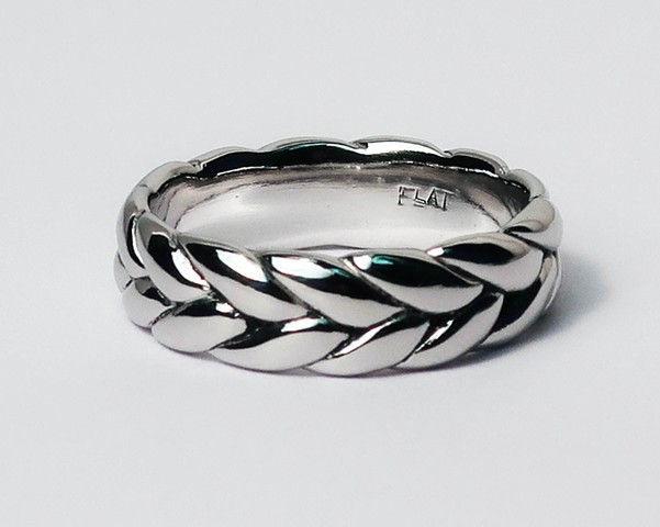 Platinum Braid Ring