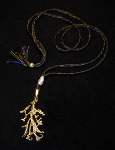 gold root pendant