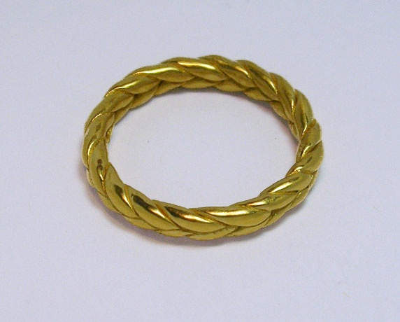 Jessica's braid wedding ring-22k y gold