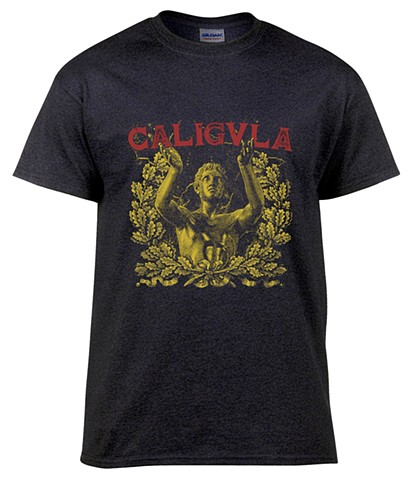 Screen printed T-Shirt design for the band Caligula