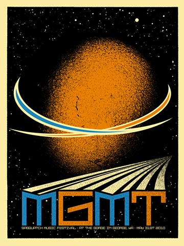 MGMT, sasquatch poster, 2010, the gorge