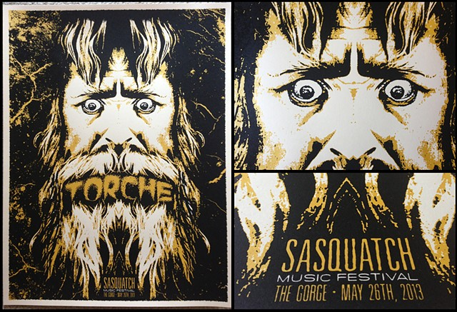 Torche, Sasquatch, Silk Screen, Poster, Nat Damm