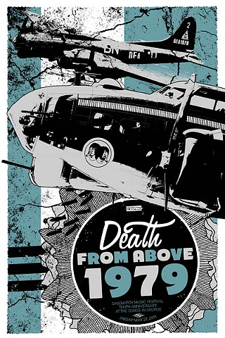 Death from above 1979 silk screened poster sasquatch festival