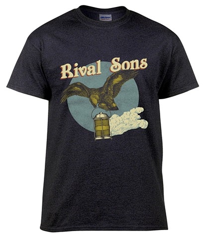 Screen printed T-Shirt design for the band Rival Sons.