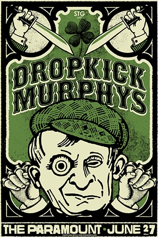 Dropkick Murphys Silk Screened Poster Neptune Theater Seattle