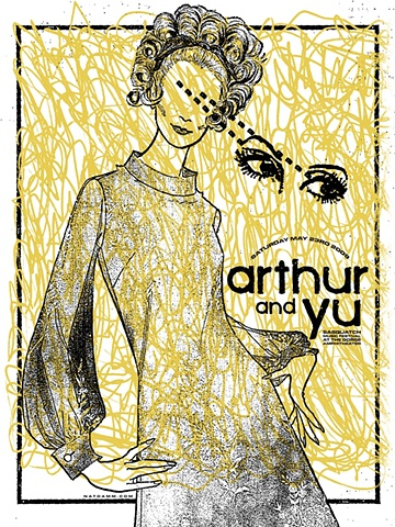 arthur and yu silk screen poster nat damm sasquatch