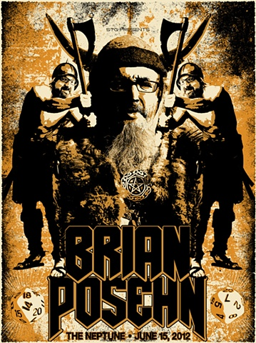 Brian Posehn, Neptune, Seattle, Silk Screen, Poster