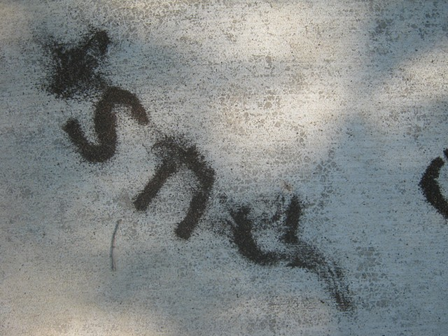 Dust to dust (apartment sidewalk), detail