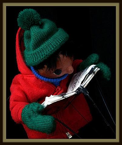 Hand Puppet Reads a Book